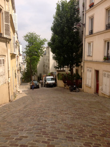 walking up to Sacre Cour