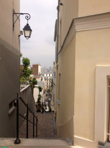 walking up to Sacré Coeur