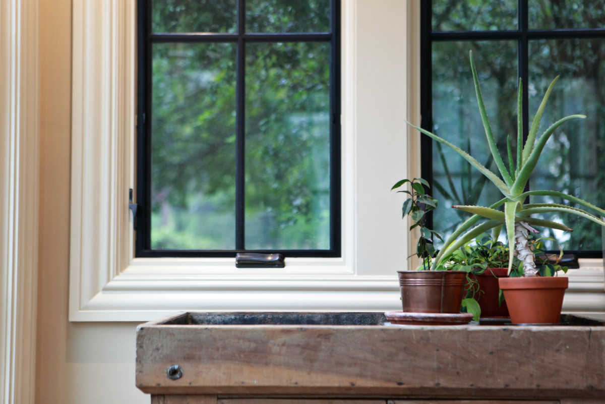 Window in Traditional American Farmhouse Design