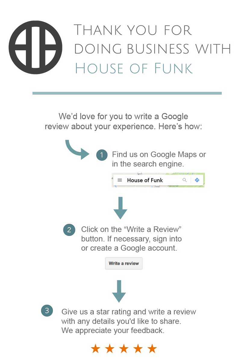 Review House of Funk on Google