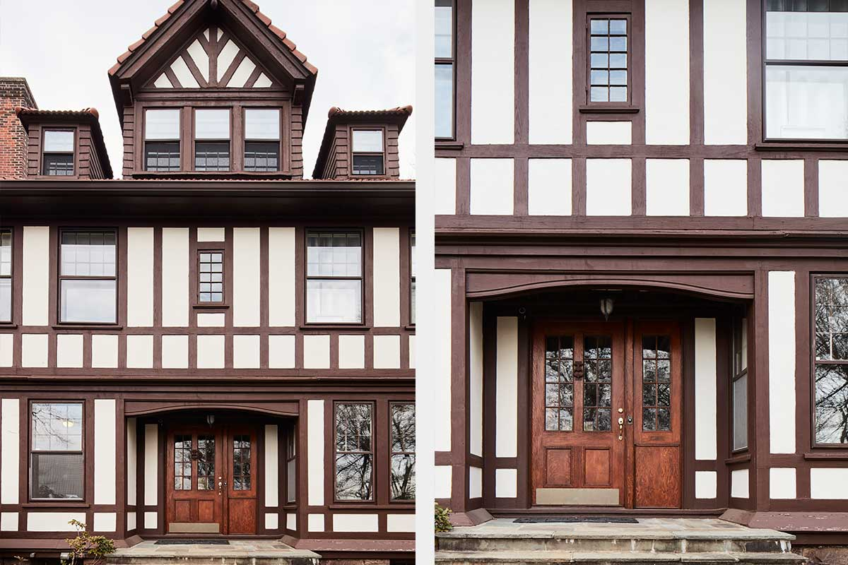 Tudor-Home-Exterior-Front-Porch