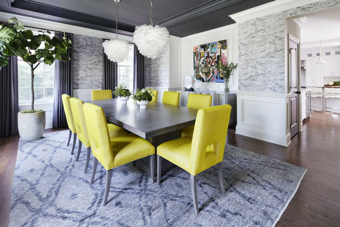 dining-room-table-yellow-chairs-house-of-funk