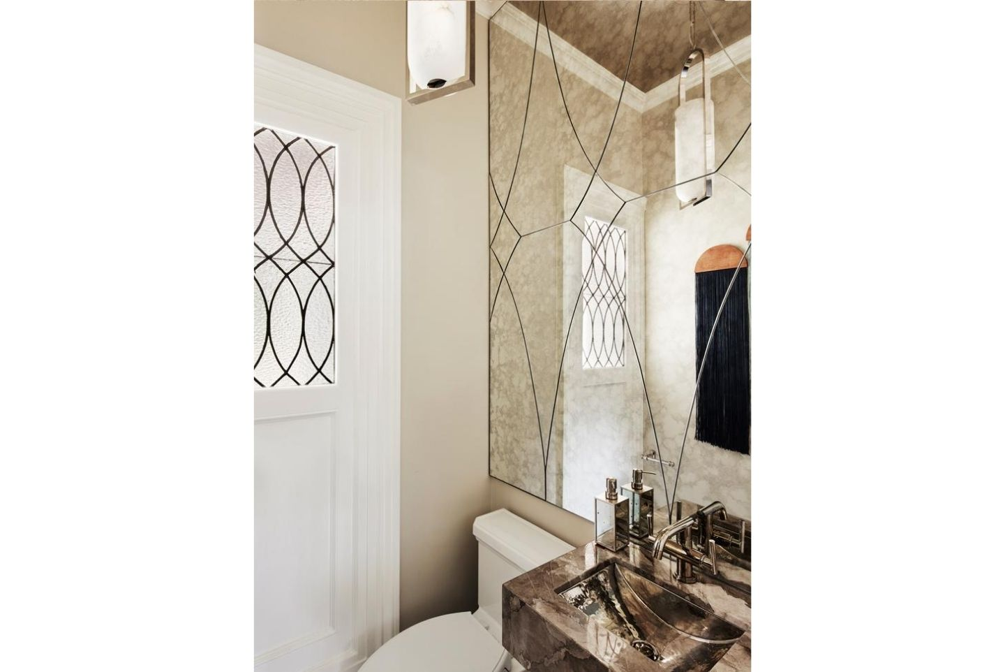 eclectic powder room design