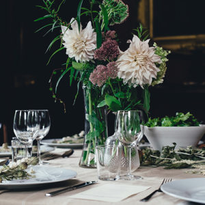Formal sit-down dinner with place cards