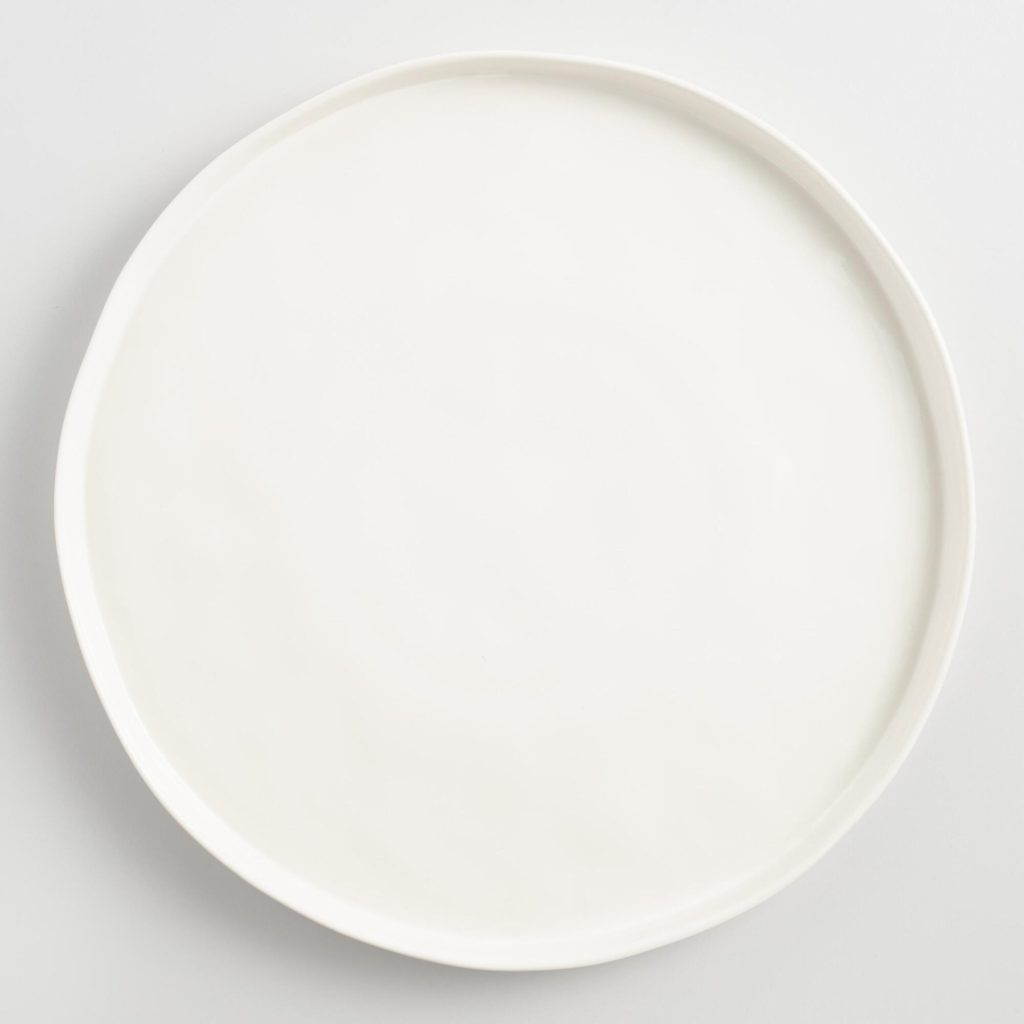 World Market Ivory Rimmed Charger Plate