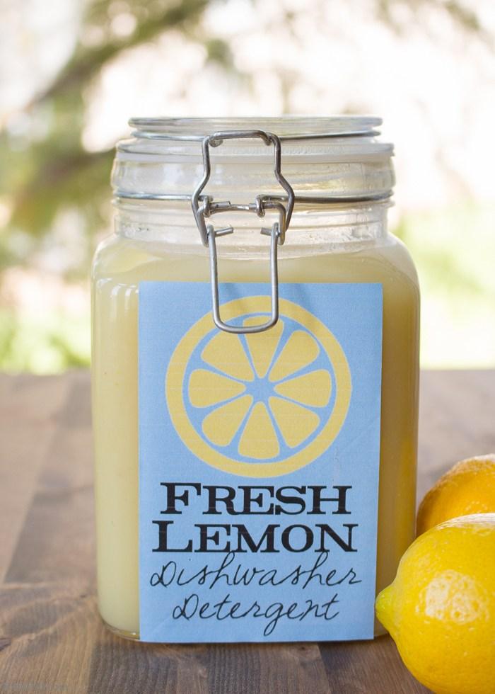 Homemade Lemon Dishwasher Detergent