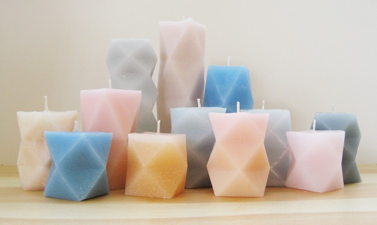 Geometric DIY candles