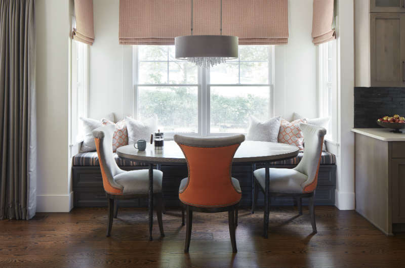 Orange and Grey Eating Area by House of Funk