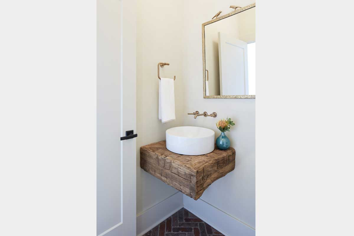 Powder-Room-Design-with-Rustic-Sink