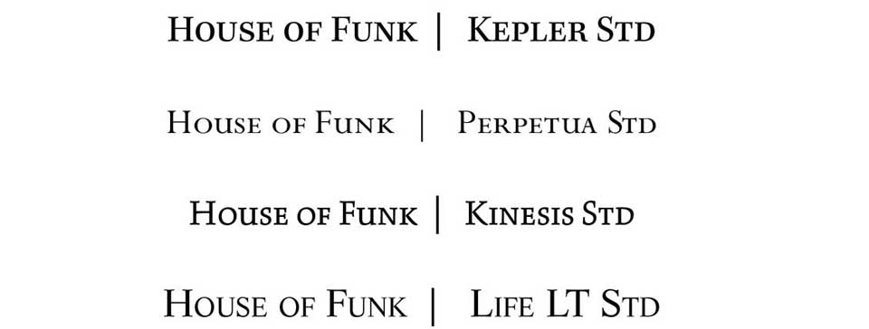 House of Funk fonts