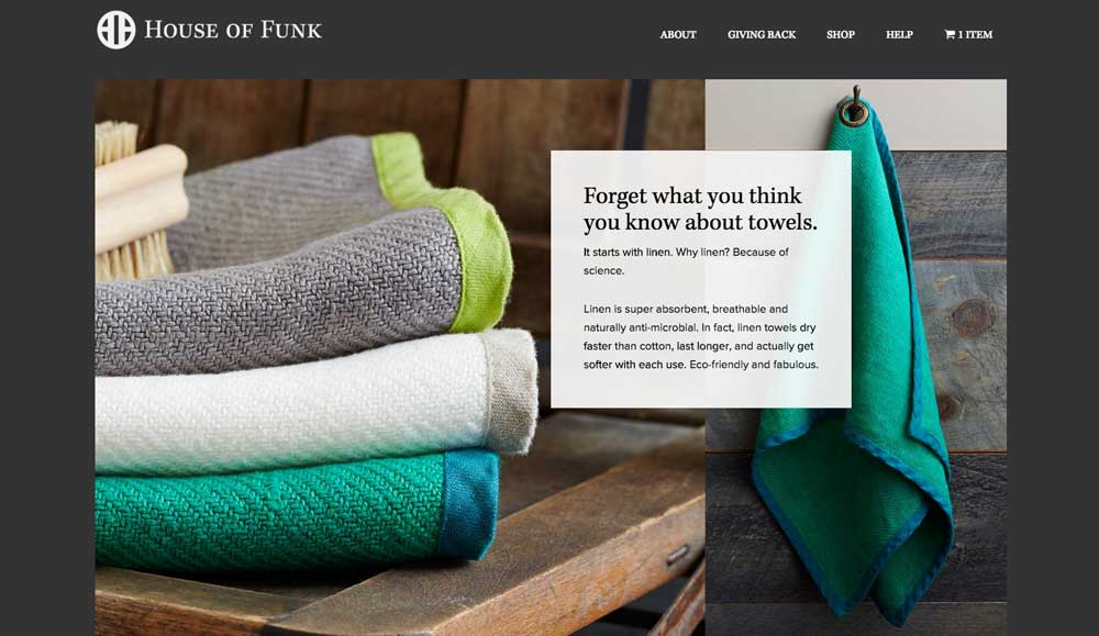 House of Funk Luxury Linen Towels