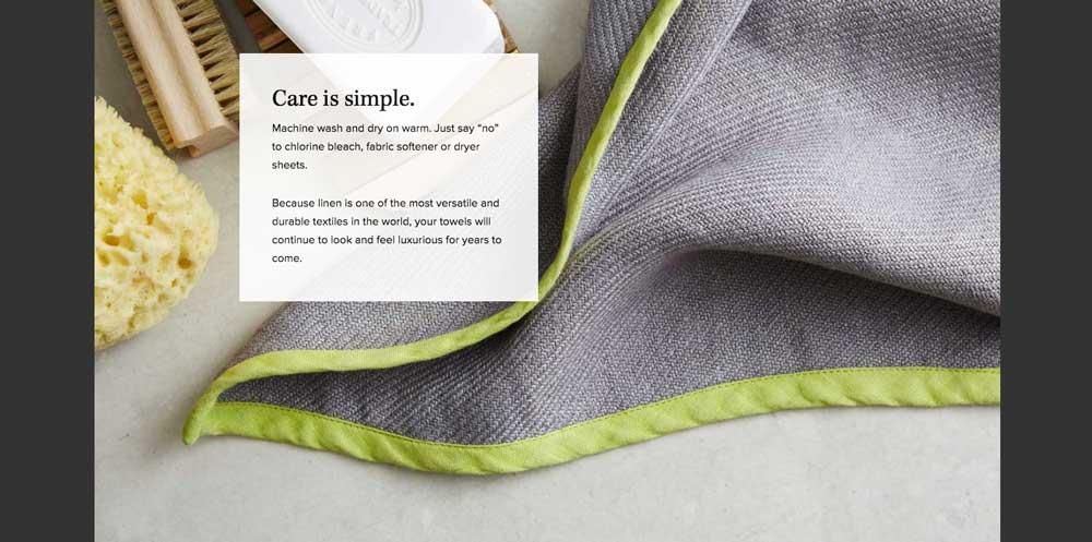 100% Linen Towels