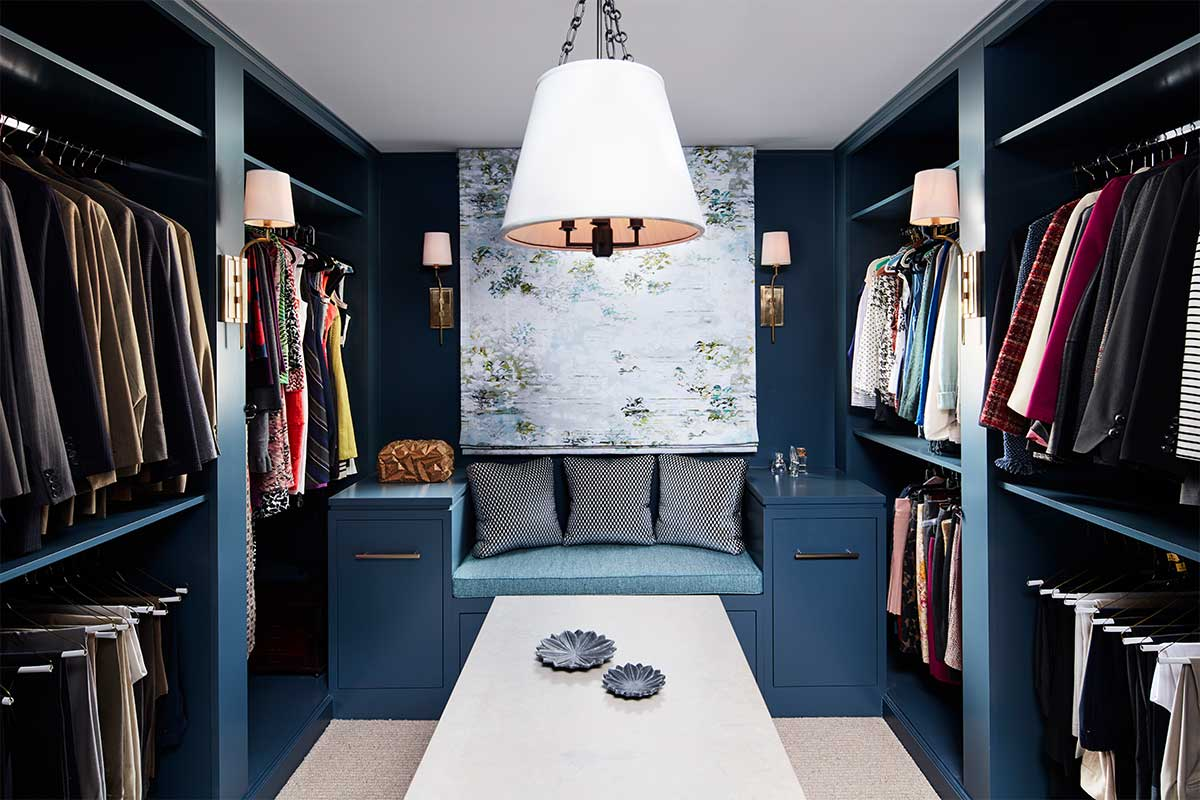 Blue-Walk-In-Closet-with-Bench