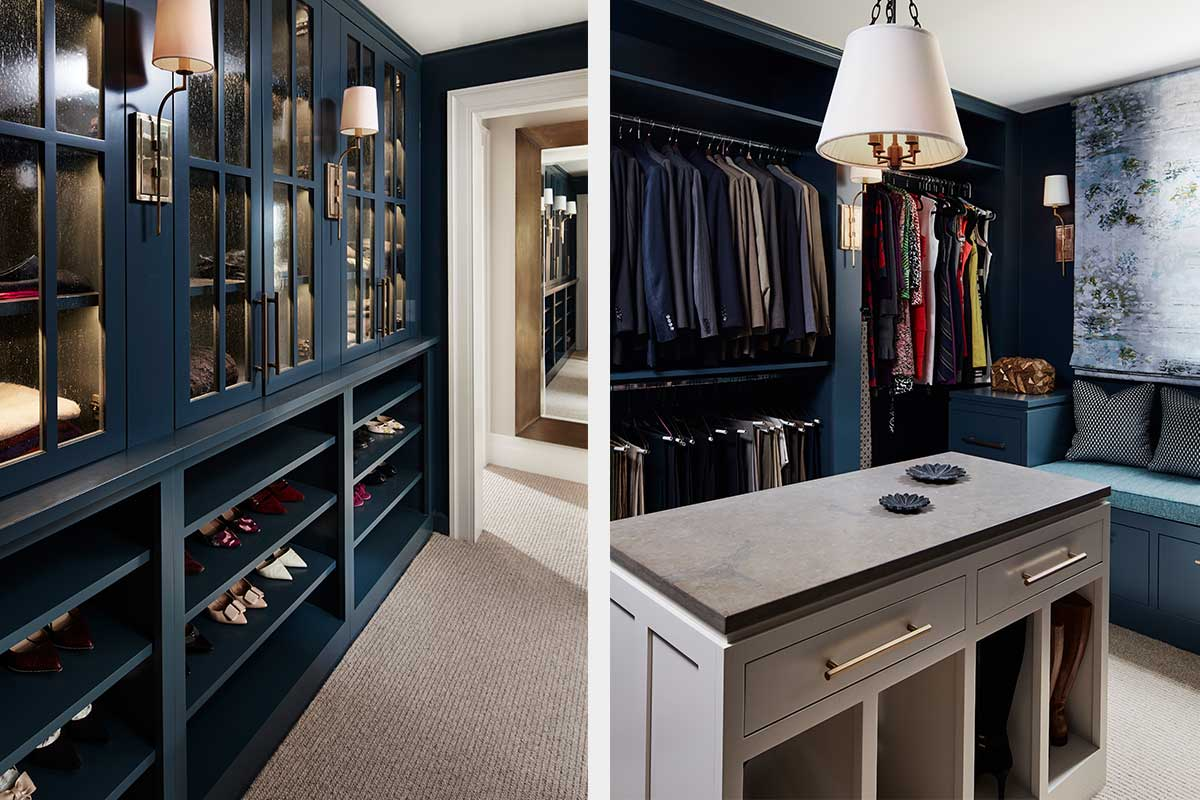 Walk-In-Closet-Blue-Shelves-with-Bench