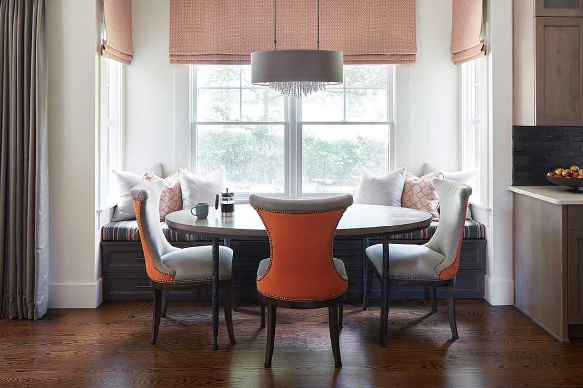 Orange Chairs Breakfast Nook