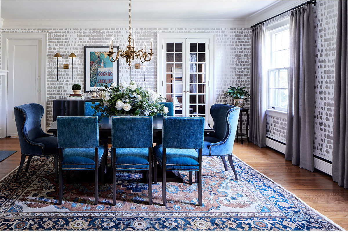 vintage blue dining room by house of funk