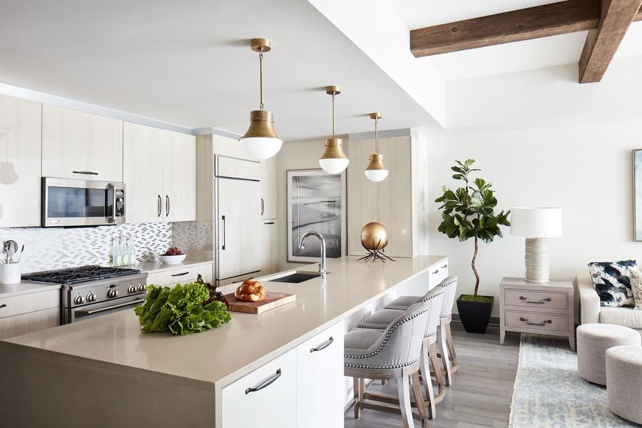 Weehawken condo kitchen design
